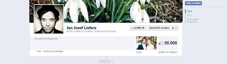 Mitte April tummeln sich bereits 50 000 Fans auf Jans Facebook-Seite.