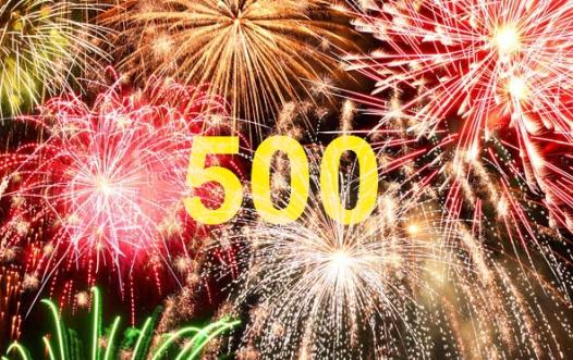 Im April zählen wir 500 Fans auf unserer Facebook-Seite.