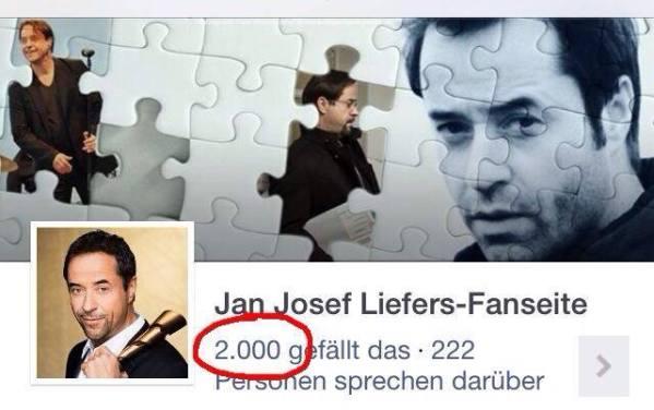 10. Mai: 2.000 Likes für die FB-Fanseite