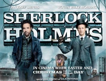 Dies dynamische Trio würde sich in der Form doch tatsächlich sehr gut auf der Kinoleinwand machen, oder? Unser Dr. Wotan, äh… Watson hat ja nun eindeutig das perfekte Hutgesicht. Und was will man zum 'neuen' Sherlock im Vergleich zum alten noch sagen? Zwillinge, bei der Geburt getrennt! Es ist der Hammer! :D