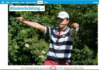 6. Juni: Der 2. Krimi-Cup im Golfclub Wilkinghege findet statt und eine Menge Geld wird für den guten Zweck gesammelt. Außerdem sorgte die Bildunterschrift für einen echten Lacher... :D