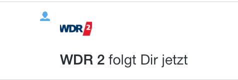07. September: WDR2 folgt uns nach Bericht vom MonTalk bei Twitter