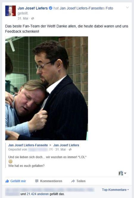 Am Abend der Ausstrahlung zeigte sich die Begeisterung der Fans schon deutlich auf Facebook, als Jan diesen kleinen Screenshot geteilt hat... Münster rulez. Ganz einfach. :D