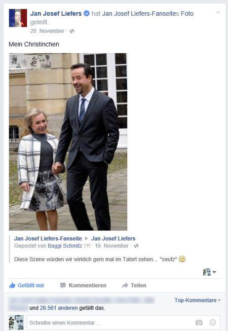 Offensichtlich sind nicht nur wir der Meinung, dass die beiden ein tolles Paar abgeben... Jans niedlicher Kommentar in Kombination mit unserem Foto hat am 20. November einen Like-Rekord eingefahren, wie es ihn bislang erst einmal auf seiner Facebookseite gegeben hat - nur IT-Girl Janina hatte noch ein paar Daumen mehr :)
