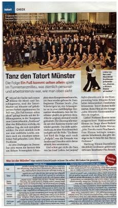 """Erwähnung in der TV-Spielfilm zum neuen Tatort Münster: """"Ein Fuß kommt selten allein"""""""