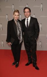 Anna Loos und Jan Josef Liefers auf dem Roten Teppich beim Deutschen Fernsehpreis 2017 © ZDF/Jörg Carstensen