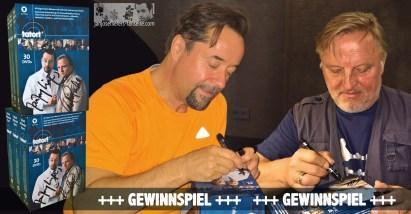 Am 2. Juli posten wir ein Gewinnspiel: zwei von Jan und Axel signierte Tatort Münster DVD-Komplettboxen werden verlost. Was für ein Spaß! Die Fans sind begeistert :D