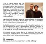 """Am 14.12. stellt Jan die NCL-Stiftung bei """"Hand in Hand gegen Demenz"""" im NDR vor. Außerdem ist er jetzt offiziell Schirmherr der Stiftung. Herzlichen Glückwunsch!! :D"""