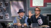 """Ein Riesenspass Mitte Dezember: Jan Josef Liefers und Axel Prahl im Tatort-Duell bei """"Klein gegen Groß"""". Foto: © NDR/Thorsten Jander"""